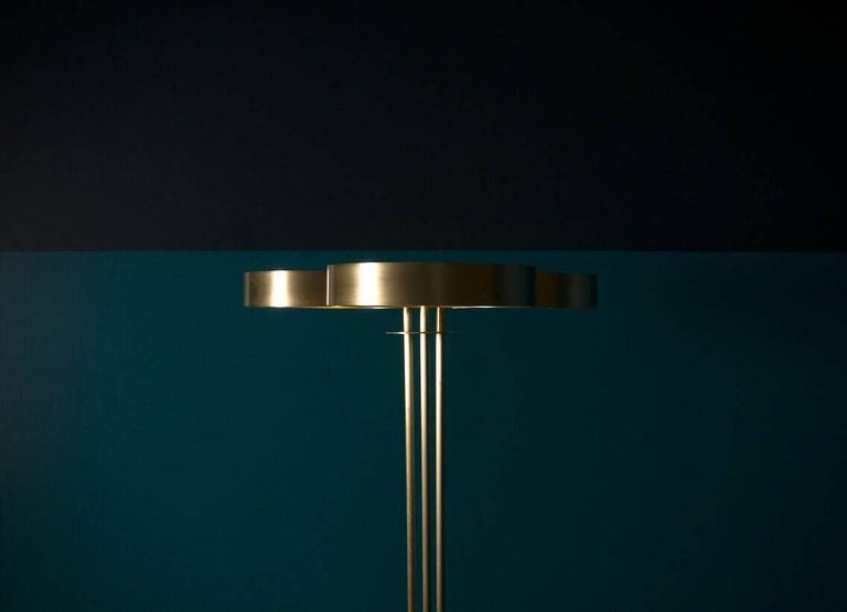 Dyed Trillium Floor Lamp by Simon Johns For Sale