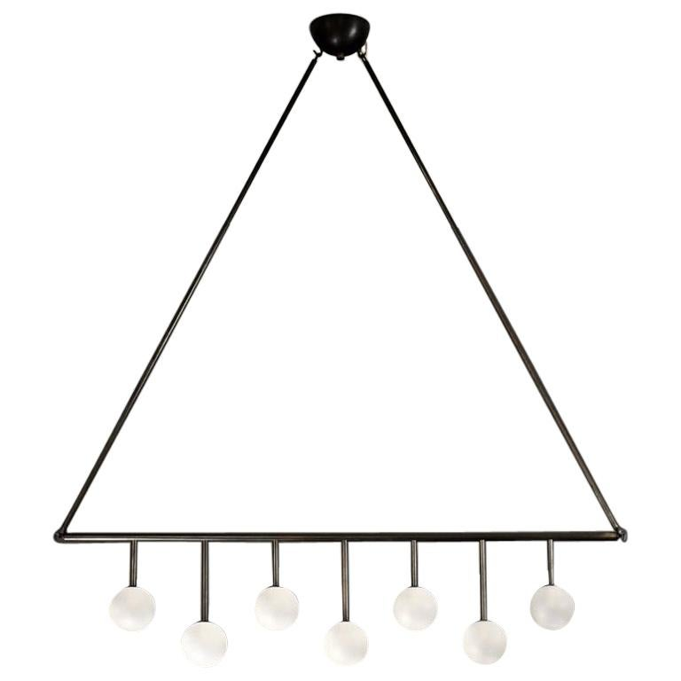 Trillo Ceiling Fixture in Oil-Rubbed Bronze & Blown Glass by Blueprint Lighting