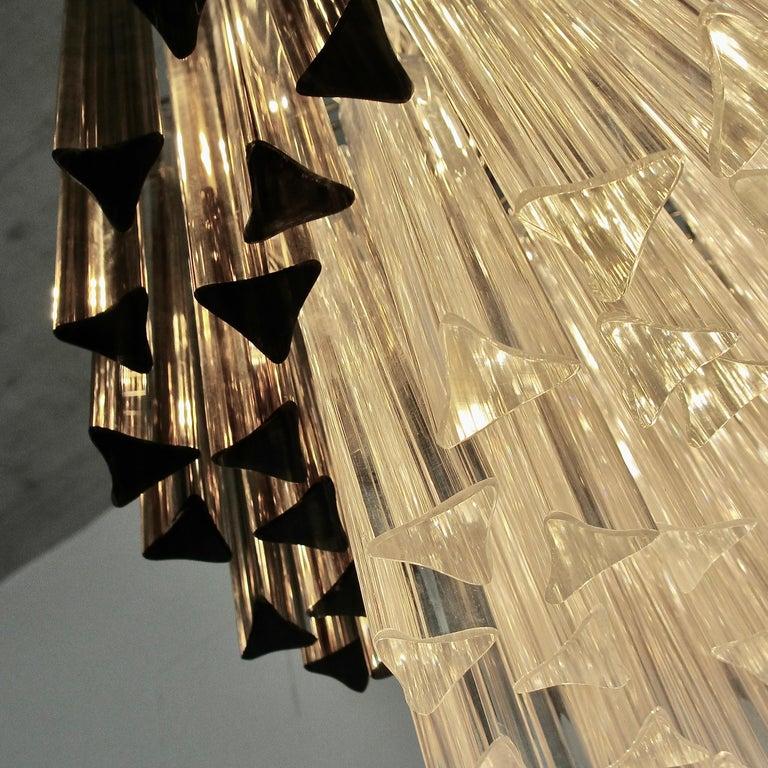 Modern Trilobi Glass Chandelier, Murano