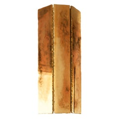 """Trilogy"" Contemporary Wall Sconce, 40 Silvered Glass"