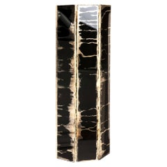 """Trilogy"" Contemporary Wall lamp, Black Silvered Glass"