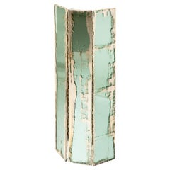 """Trilogy"" Contemporary Wall lamp, Jade Silvered Glass"