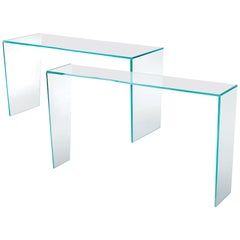 Trim Console Table, by Victor Carrasco from Glas Italia