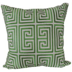 Trina Turk Trellis Green and White Decorative Pillow