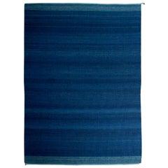Trine Ellitsgaard Handmade Saasil Rug Pigmented with Natural Indigo Dye