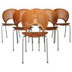 Trinidad Teak Dining Chairs by Nanna Ditzel 1990s Set of 6