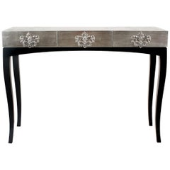 Trinity Console Table in Copper or Silver Leaf