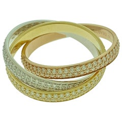 Trinity Rings, Small Model White Gold, Yellow Gold, Pink Gold, Diamonds