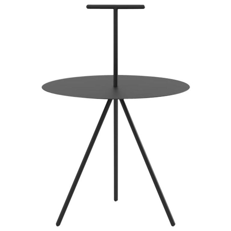 Viccarbe Trino Coffee Table, Black Finish with T Handle by Elisa Ossino For Sale