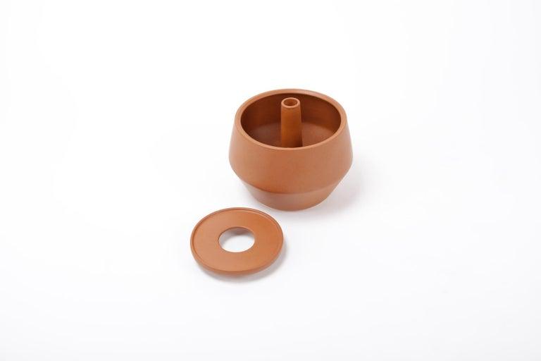 Trinum Diamond Ceramic Planter, Contemporary Mexican Design For Sale 1