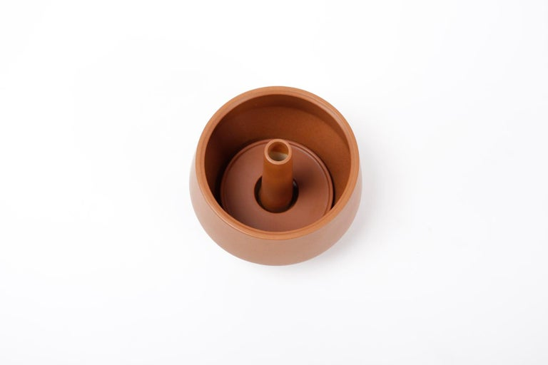 Trinum Diamond Ceramic Planter, Contemporary Mexican Design For Sale 2