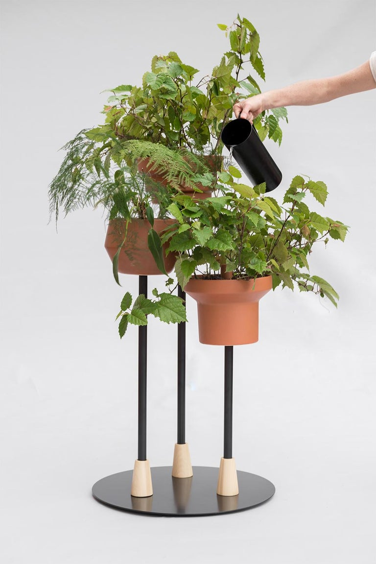 Modern Trinum Pedestal Multi Planter, Contemporary Mexican Design For Sale