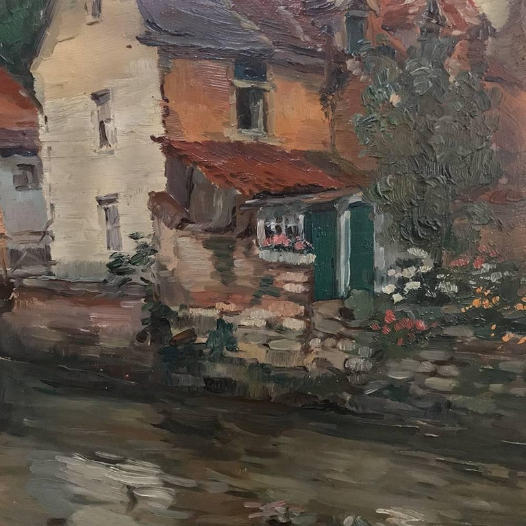 Trio of Antique Oil Paintings on Canvas by Adrien Wernaers For Sale 3