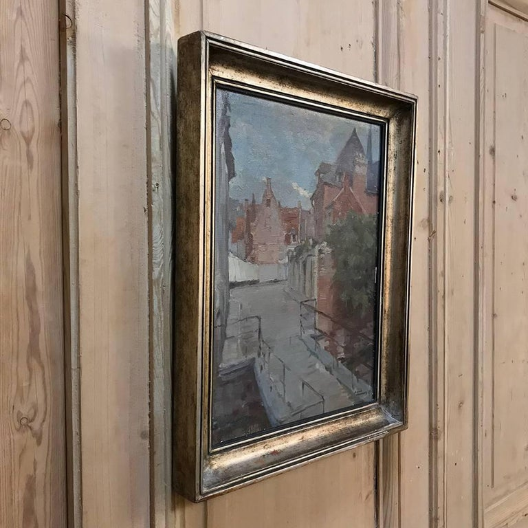 20th Century Trio of Antique Oil Paintings on Canvas by Adrien Wernaers For Sale
