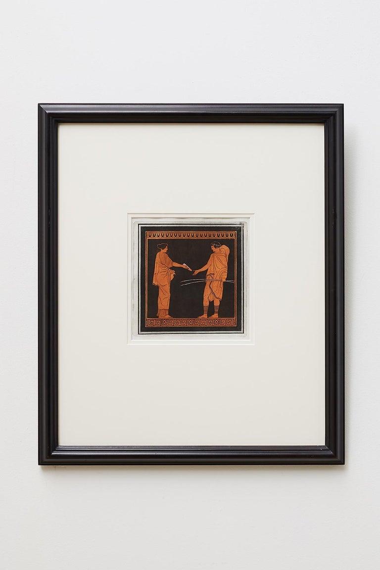 Trio of English William Hamilton Neoclassical Engravings In Good Condition For Sale In Oakland, CA