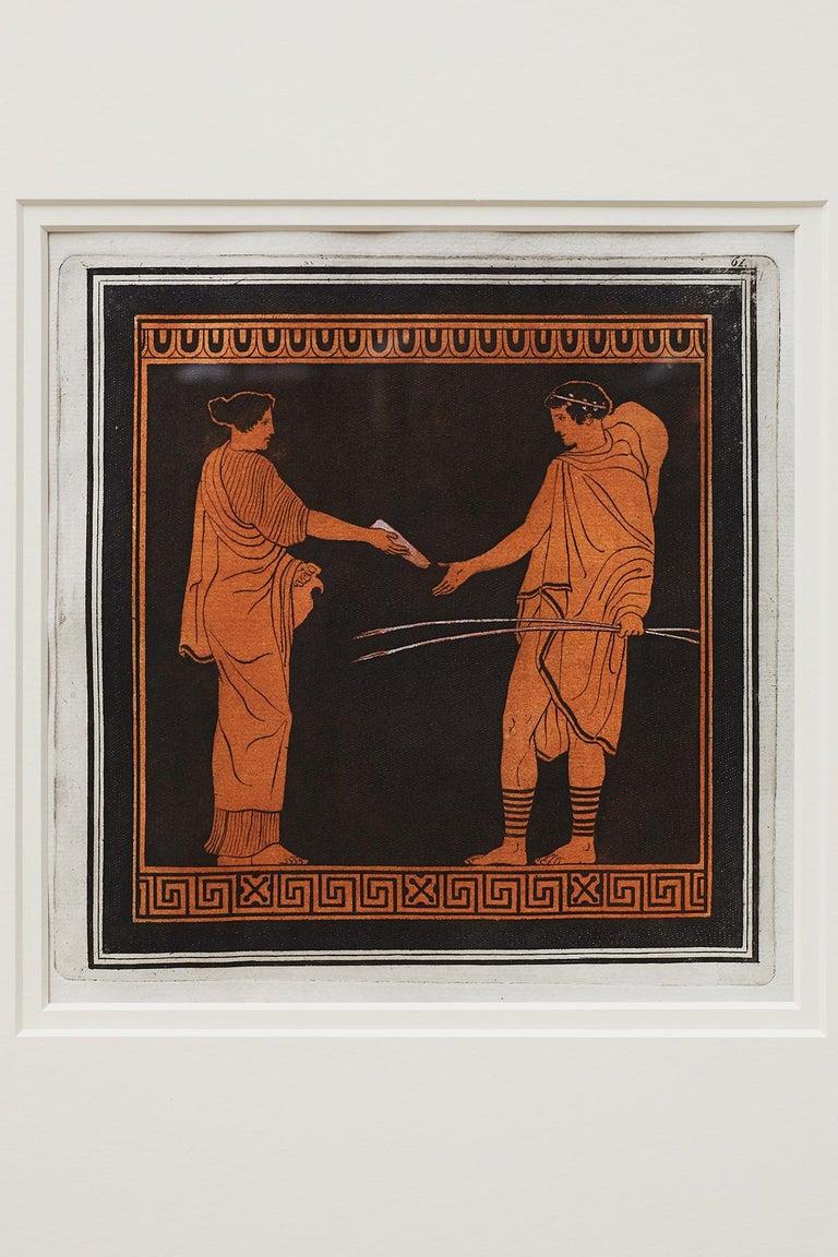 Wood Trio of English William Hamilton Neoclassical Engravings For Sale