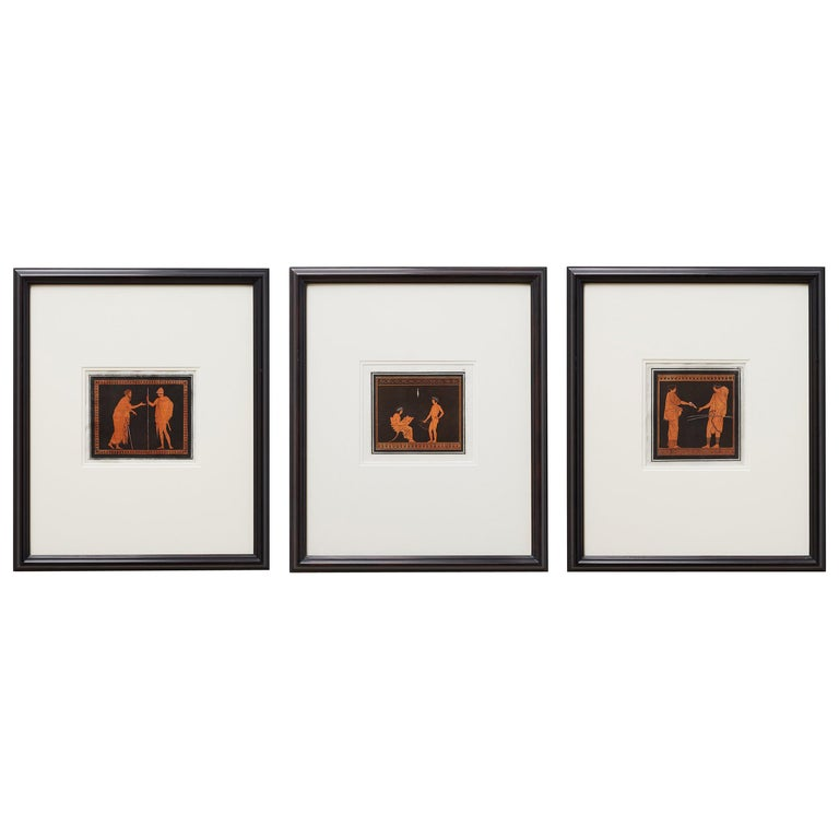 Trio of English William Hamilton Neoclassical Engravings For Sale