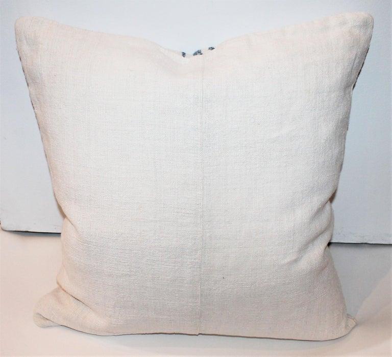 Trio of Linen Pillows, Vintage For Sale 4