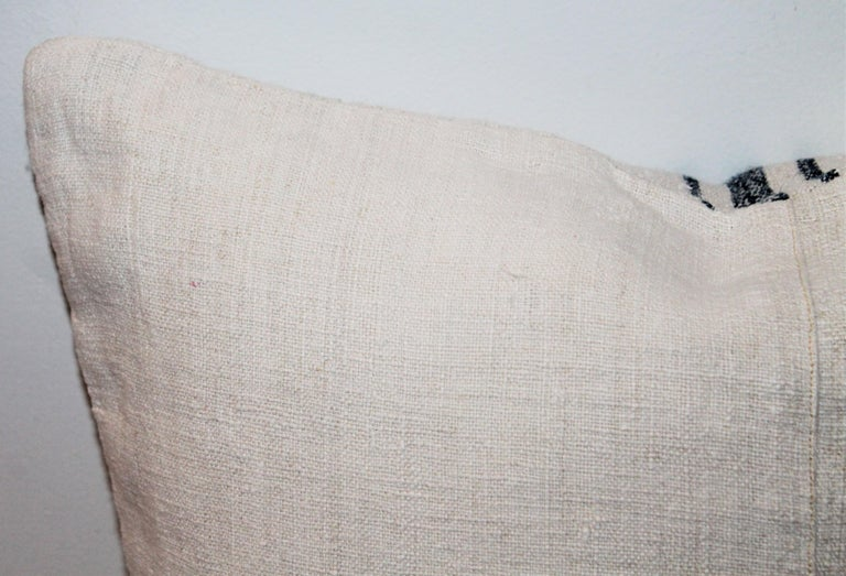 Trio of Linen Pillows, Vintage For Sale 5