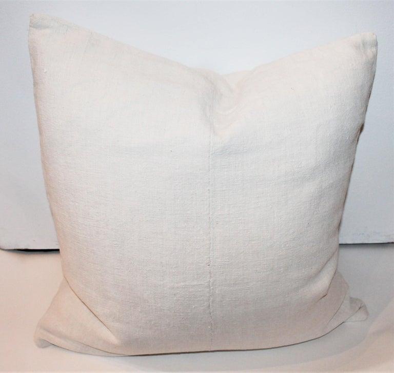 Trio of Linen Pillows, Vintage For Sale 9