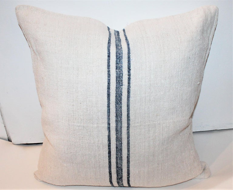 19th Century Trio of Linen Pillows, Vintage For Sale