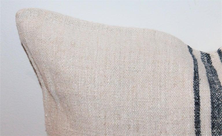 Trio of Linen Pillows, Vintage For Sale 1