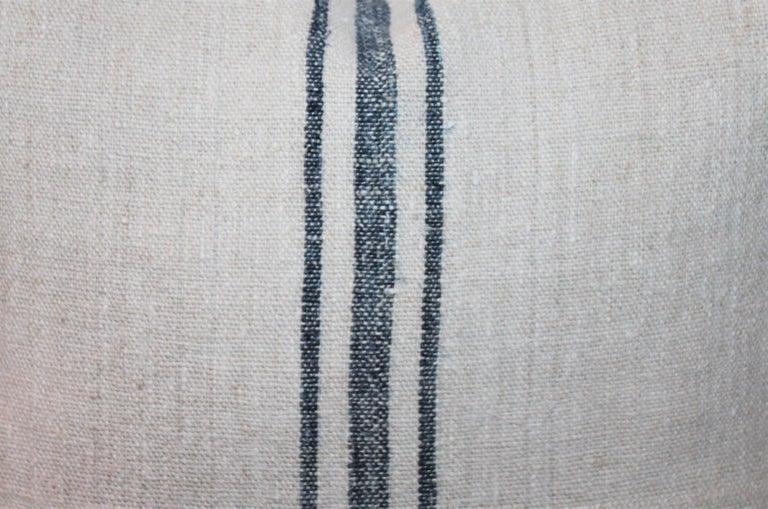 Trio of Linen Pillows, Vintage For Sale 2