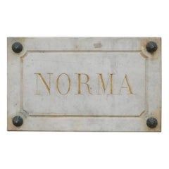 Trio of Marble French Horse Name Plaques 'Bianca/Norma/Cobb'