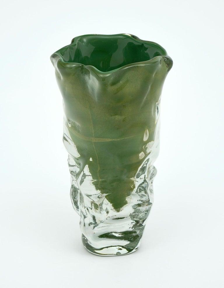 """Trio of """"Martellato"""" Murano Glass Vases In Excellent Condition For Sale In Austin, TX"""