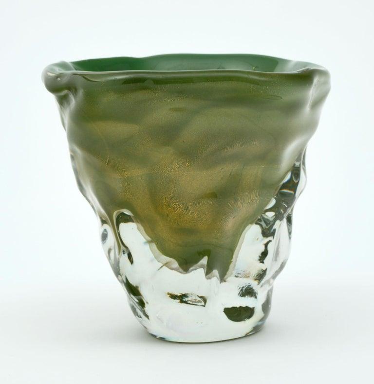 """Trio of """"Martellato"""" Murano Glass Vases For Sale 1"""