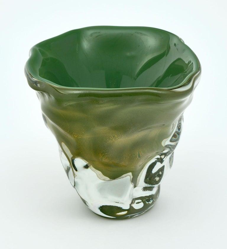 """Trio of """"Martellato"""" Murano Glass Vases For Sale 2"""