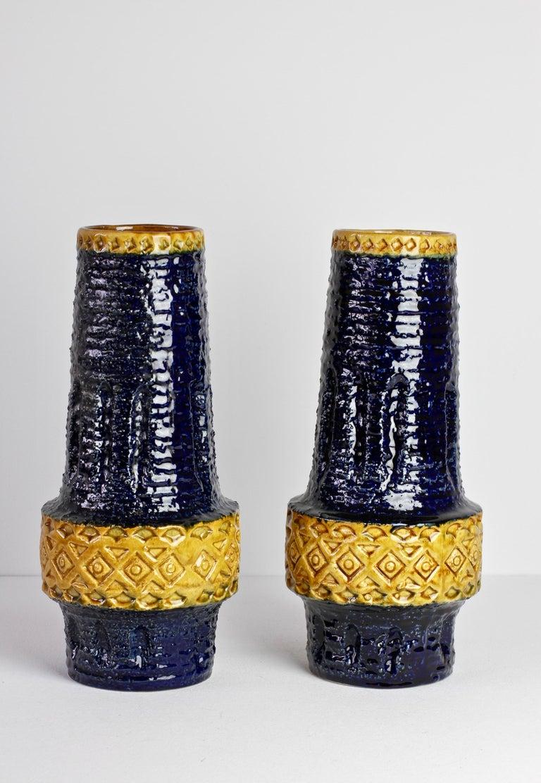 Trio of Mid-Century West German Vases by Bay Keramik & Spara Pottery, circa 1970 In Fair Condition For Sale In Landau an der Isar, Bayern