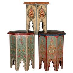Trio of Moorish Occasional Tables