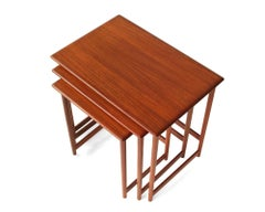 Trio of Teak Nesting Tables by Rasmus Solberg