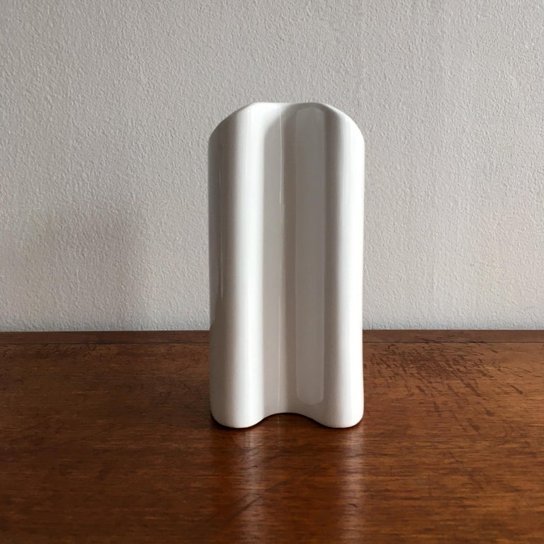 20th Century Trio of White Vases by Thomas, Dansk and Rosenthal Plissee  For Sale