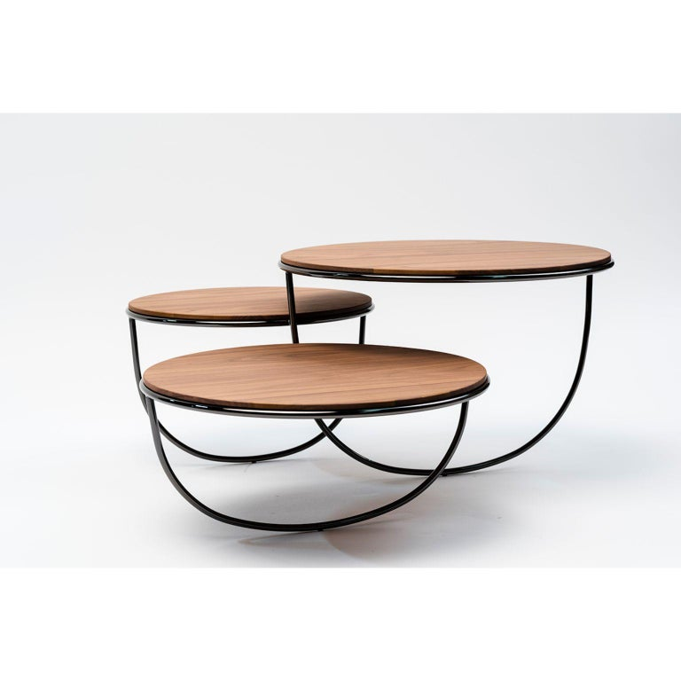 Metal Trio Side Table by Nendo For Sale