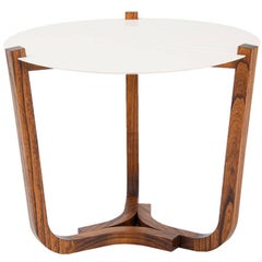 Trip Brazilian Contemporary Wood Side Table by Lattoog