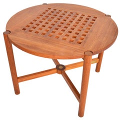 Trip Trap Solid Teak Round Side Table