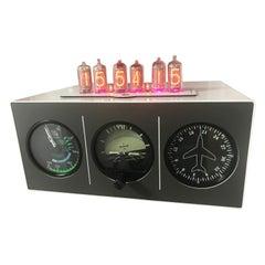 Triple Aircraft Instrument Nixie Clock