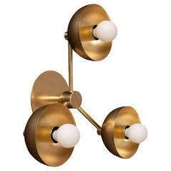 Triple Brass Dome Wall Sconce Tala Porcelain I, Lighting Fixture