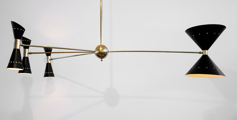 Triple Counterbalance Italian Pendant For Sale 1