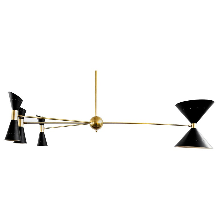 Triple Counterbalance Italian Pendant For Sale