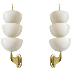 Triple Cup Uplight Sconces by Stilnovo, Italy