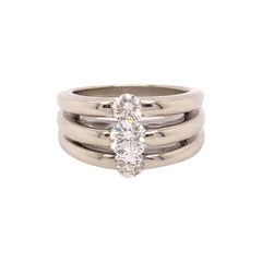 Triple Diamond and Triple Band Ring
