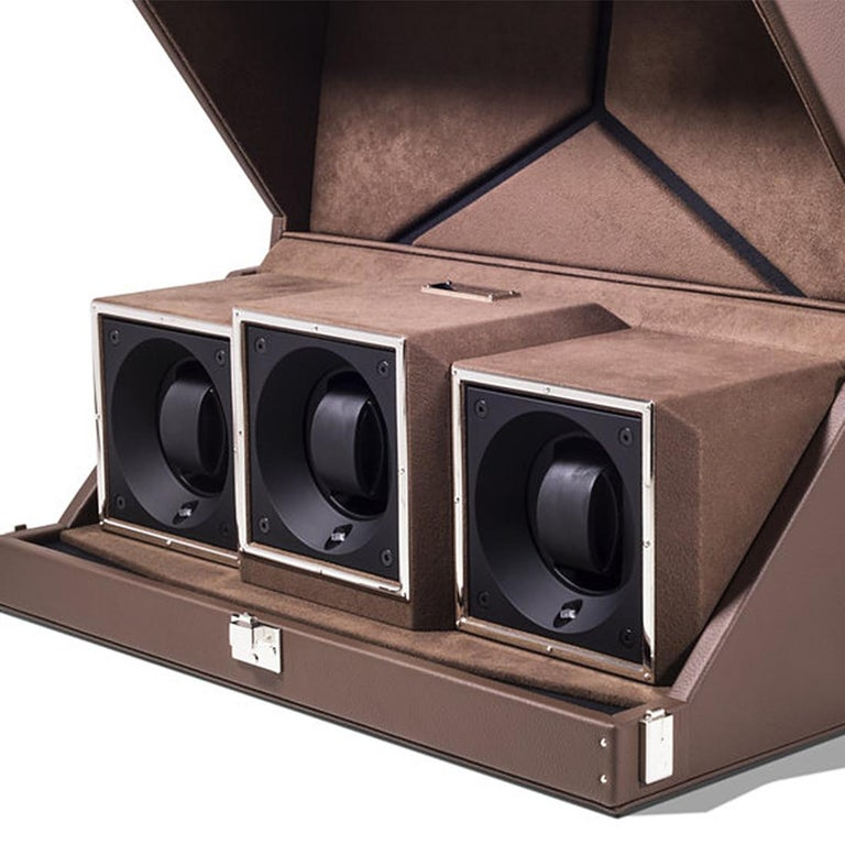 French Triple Luxwatch Brown Box For Sale