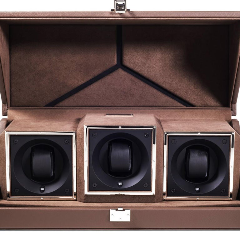 Triple Luxwatch Brown Box In New Condition For Sale In Paris, FR