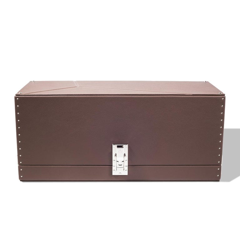 Contemporary Triple Luxwatch Brown Box For Sale