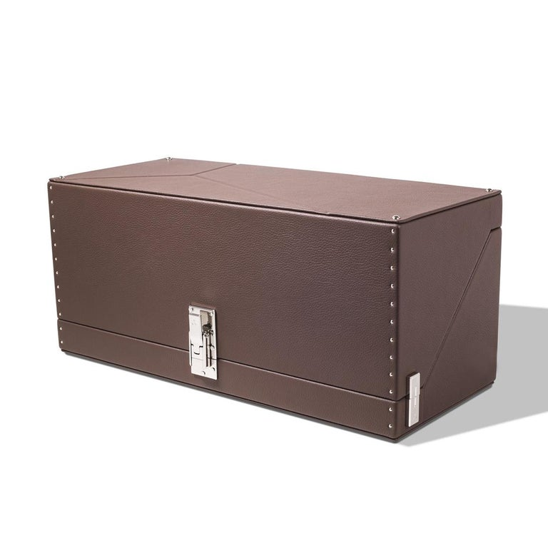 Nickel Triple Luxwatch Brown Box For Sale