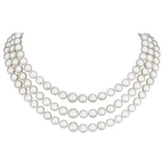 Triple Strand South Sea Pearl Necklace