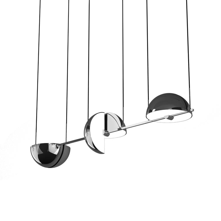 Modern Triple Trapeze Pendant by Jette Scheib For Sale